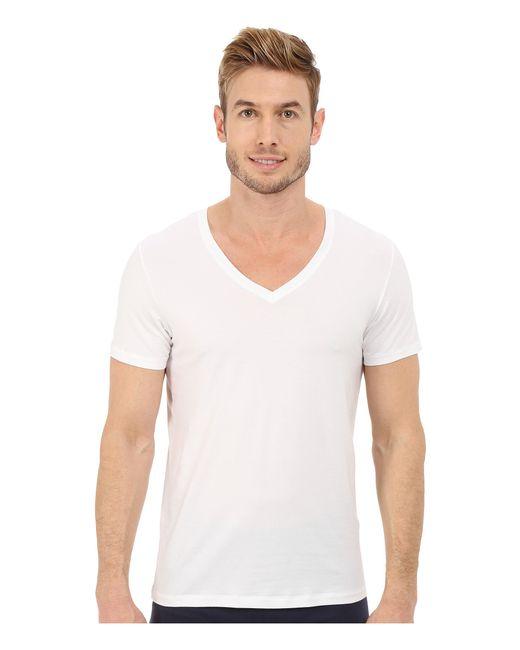 Hanro | White Cotton Superior V-neck Shirt for Men | Lyst
