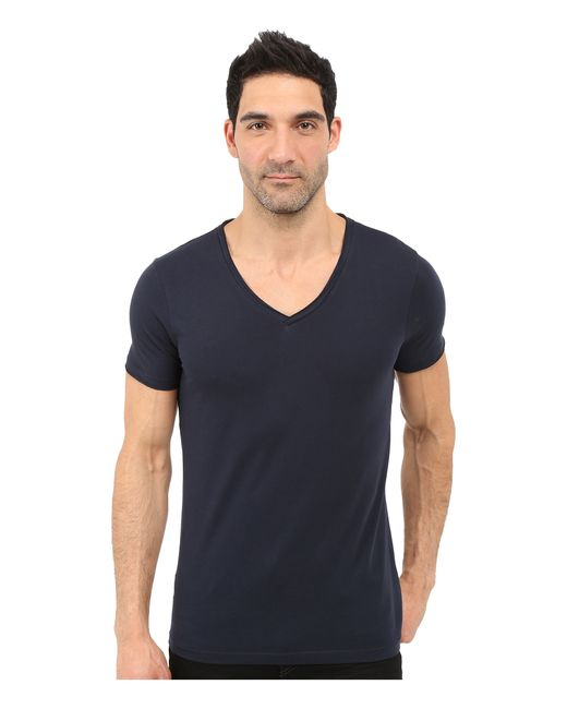 Boss Orange Tooley Jersey T Shirt Short Sleeve V Neck In