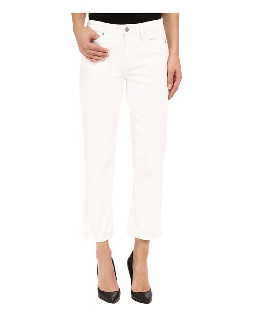 Calvin Klein Jeans | White Cropped Straight Jeans In Honalulu | Lyst