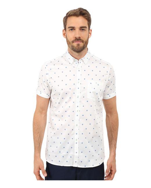 Ted baker mydance short sleeve floral spot print shirt in for Ted baker floral print shirt