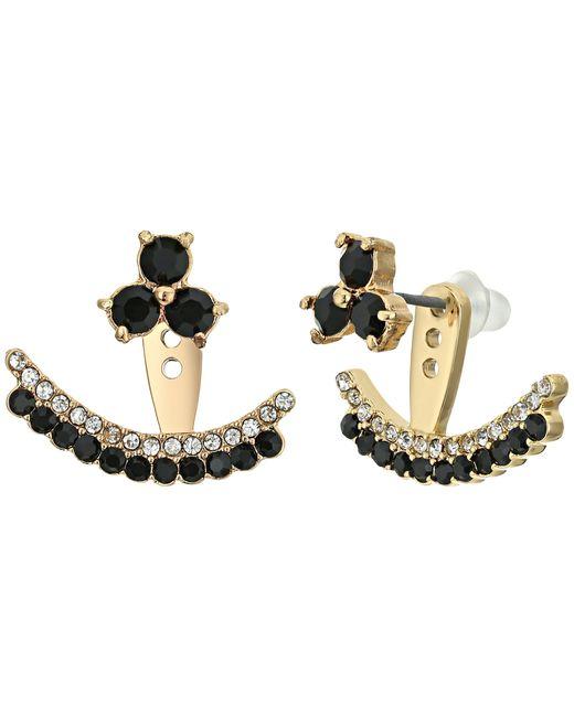 Kate Spade | Black Dainty Sparklers Double Row Ear Jackets | Lyst