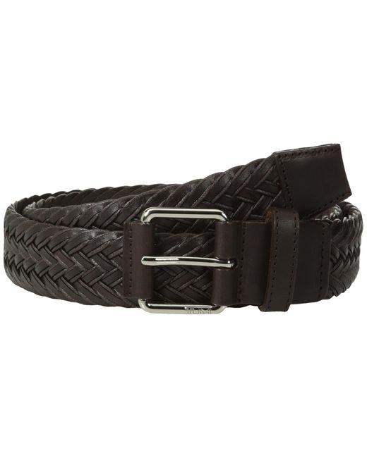 Tumi | Black Leather Braided Belt for Men | Lyst