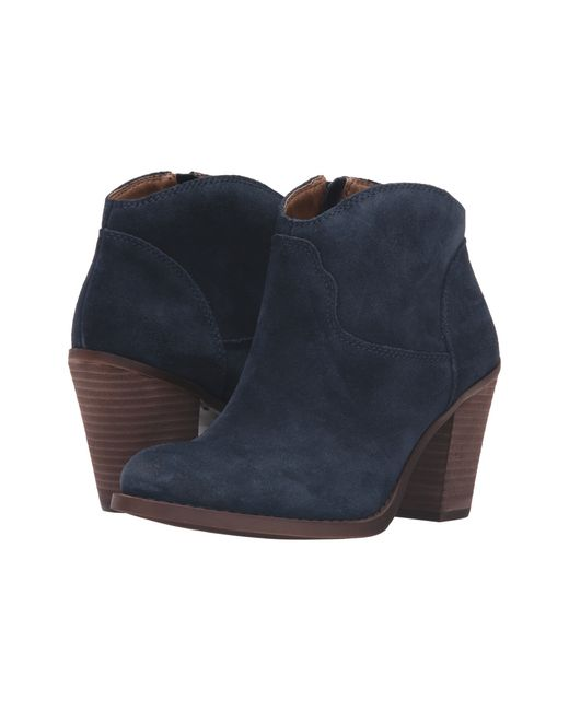 Lucky Brand | Blue Eller Suede Ankle Boots | Lyst