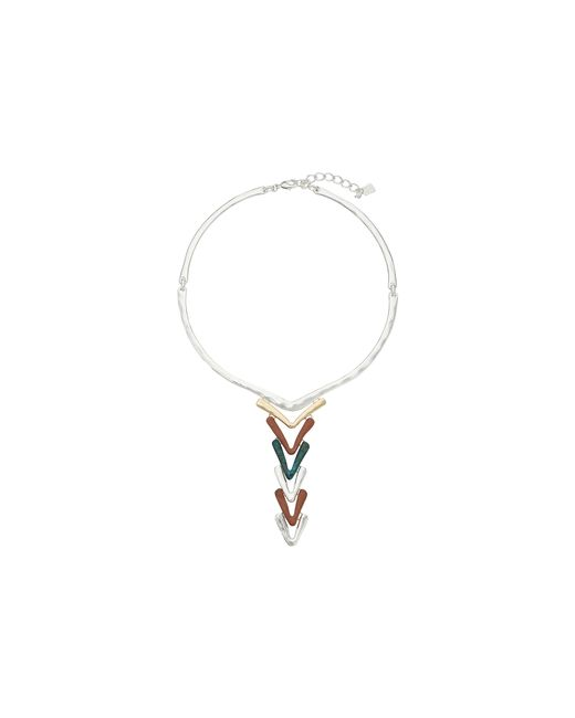 Robert Lee Morris | Metallic Patina Two-tone Collar Necklace | Lyst