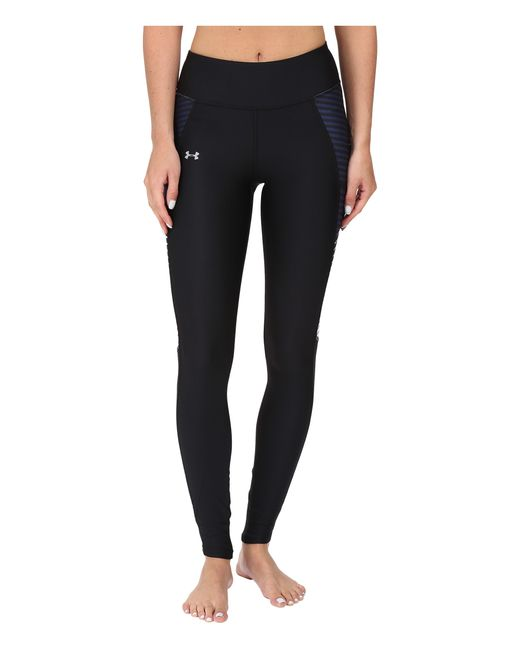 Under Armour | Black Ua Fly-by Printed Legging | Lyst