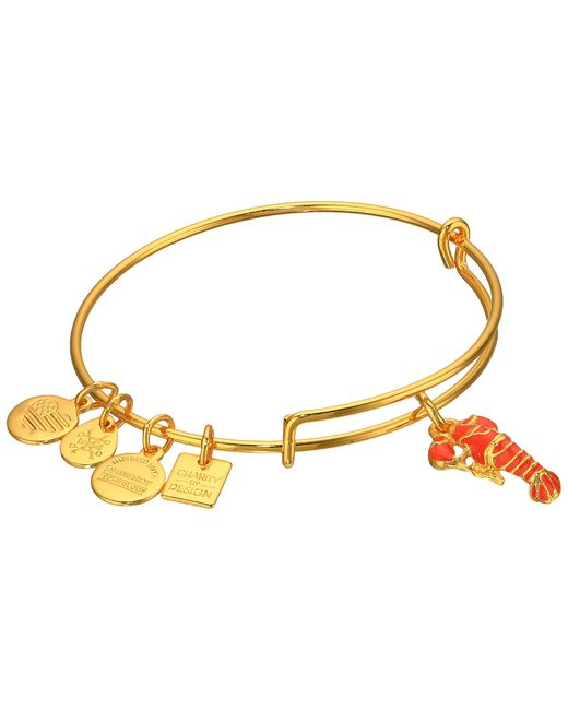 ALEX AND ANI | Metallic Charity By Design Lobster Bangle | Lyst