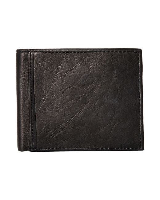 Fossil | Black Ingram Rfid Bifold W/ Flip Id for Men | Lyst