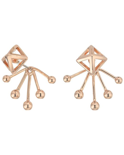 Rebecca Minkoff | Multicolor Pyramid Fan Back Ear Jacket Earrings | Lyst