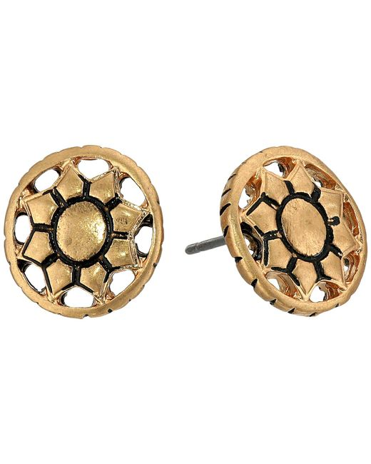 The Sak | Metallic Engraved Open Stud Earrings | Lyst