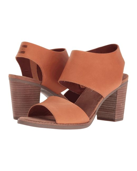 Toms Majorca Cutout Sandal In Brown Lyst