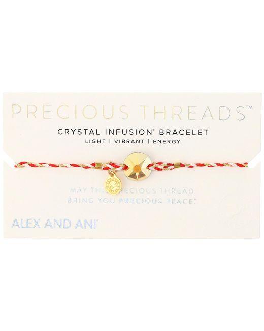 ALEX AND ANI | Precious Threads Metallic Sunshine Swarovski Crystal Royal Cardinal Braid | Lyst