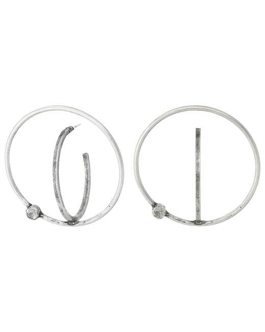 DANNIJO   Metallic Axis Earrings   Lyst