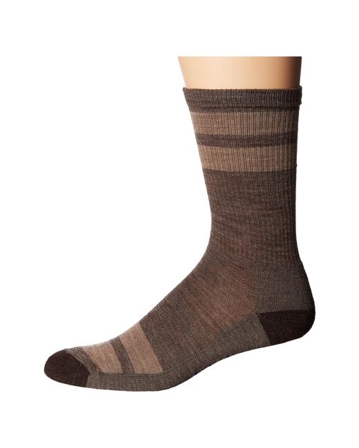 Smartwool | Brown Striped Hike Light Crew for Men | Lyst