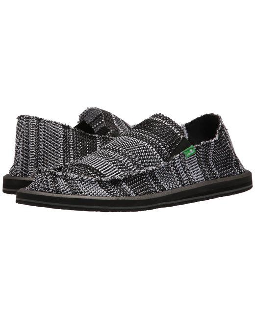 Sanuk | Black Yew-knit for Men | Lyst