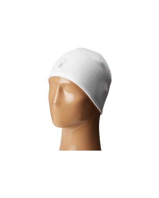 Spyder | White Women's Stryke Core Fleece Beanie for Men | Lyst