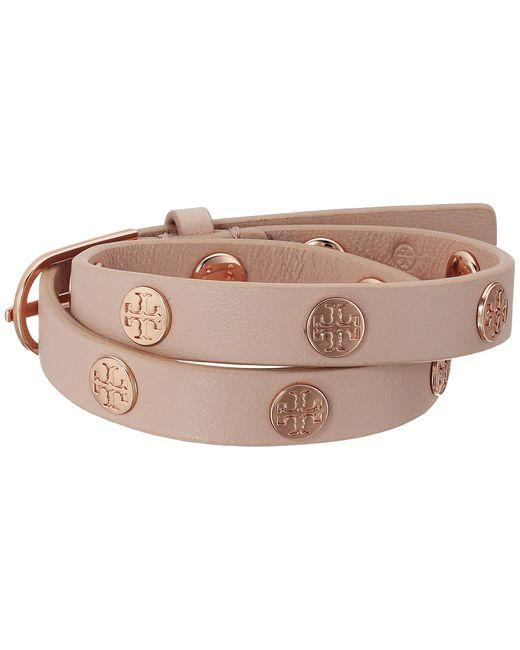 Tory Burch | Multicolor Double Wrap Logo Stud Bracelet | Lyst