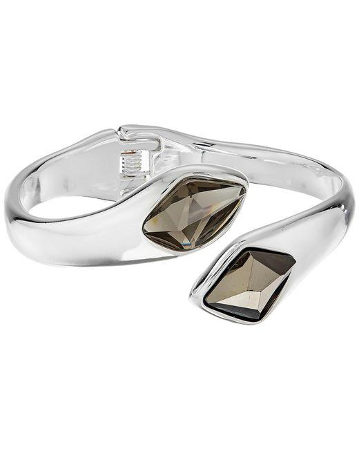 Robert Lee Morris | Gray Grey & Silver Stone Bypass Bracelet | Lyst