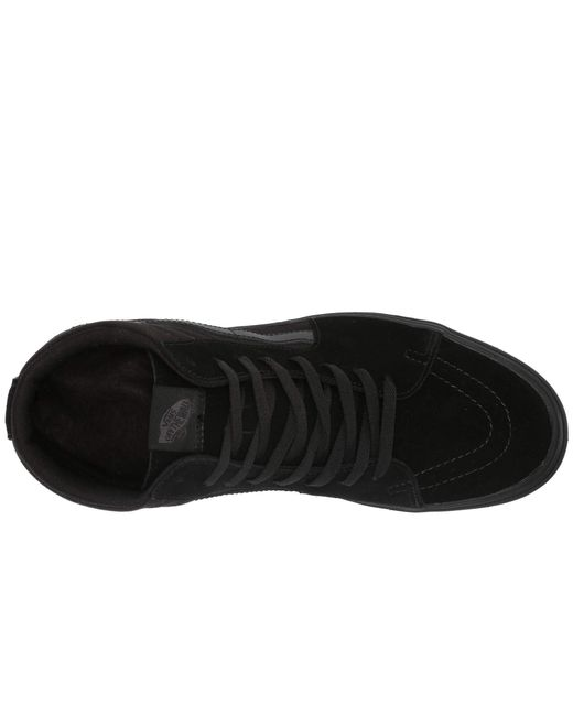 8a73bc5816b Lyst - Vans Comfycush Sk8-hi ((classic) Black true White) Athletic ...