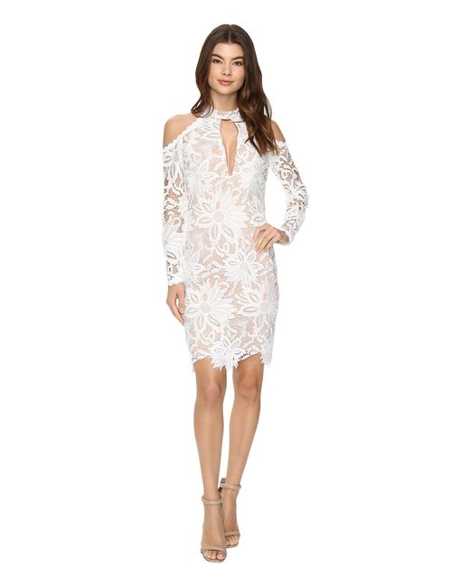 Nicole Miller | White Sunflower Lace Kendall Dress | Lyst
