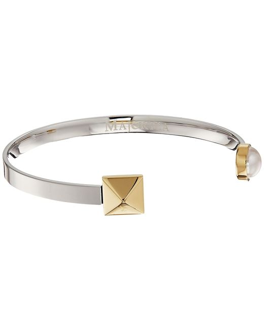 Majorica | White Why Not? Two-tone Bangle | Lyst
