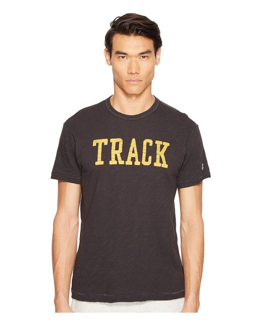 Todd Snyder | Black Track Graphic T-shirt for Men | Lyst