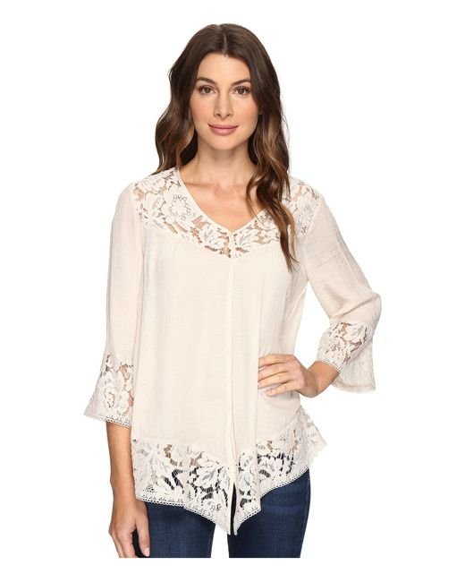 Brigitte Bailey | Natural Fennec Lace Top | Lyst