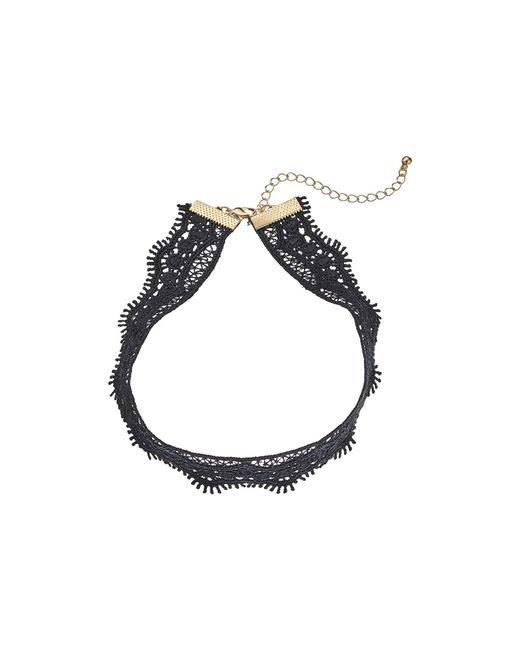 Steve Madden | Black Filigree Crochet Choker Necklace | Lyst