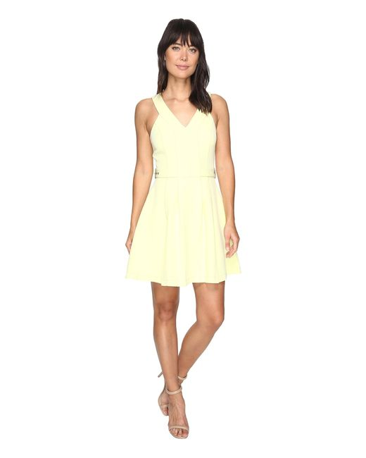 Adelyn Rae   Yellow Andrea Woven Fit And Flare Dress   Lyst
