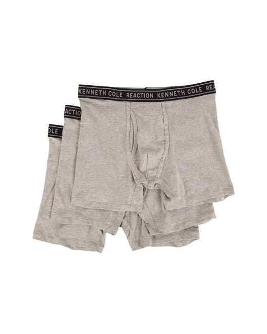 Kenneth Cole Reaction | Gray 3-pack Boxer Brief - Cotton Stretch for Men | Lyst
