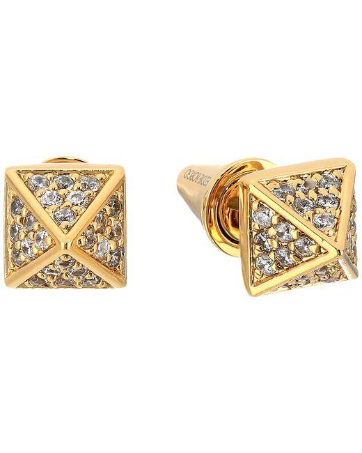Eddie Borgo   Metallic Pavé Pyramid Stud Earrings   Lyst