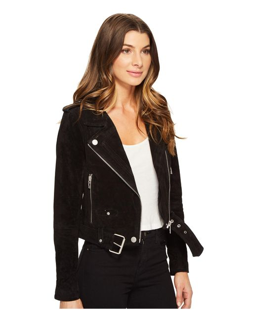 Blank Nyc Black Suede Moto Jacket In Seal The Deal In