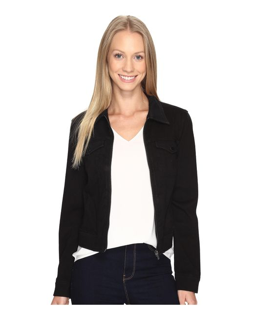 Liverpool Jeans Company | Black Denim Zip Jacket In Powerflex Knit Denim | Lyst