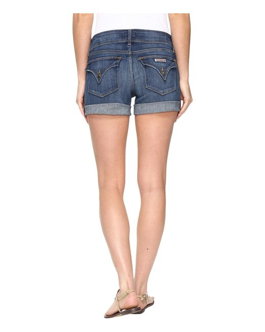 Hudson Croxley Mid Thigh Jean Shorts In Adventageous in Blue | Lyst