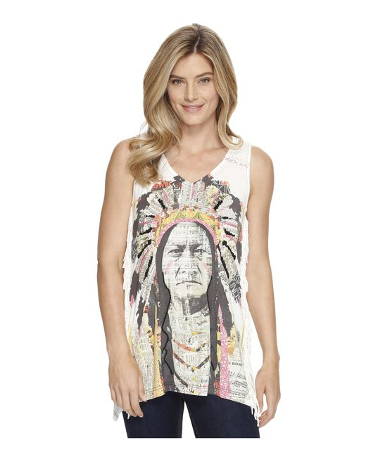 Double D Ranchwear | Multicolor Chief Sitting Bull Tank Top | Lyst