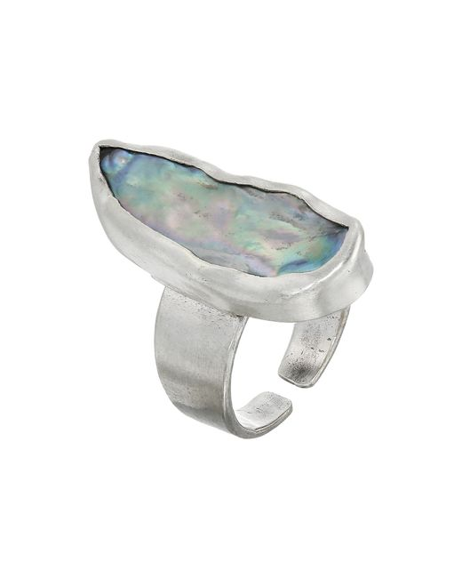 Chan Luu | Gray Adjustable Fresh Water Pearl Ring | Lyst
