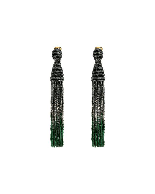 Oscar de la Renta   Multicolor Long Ombre Beaded Tassel C Earrings   Lyst
