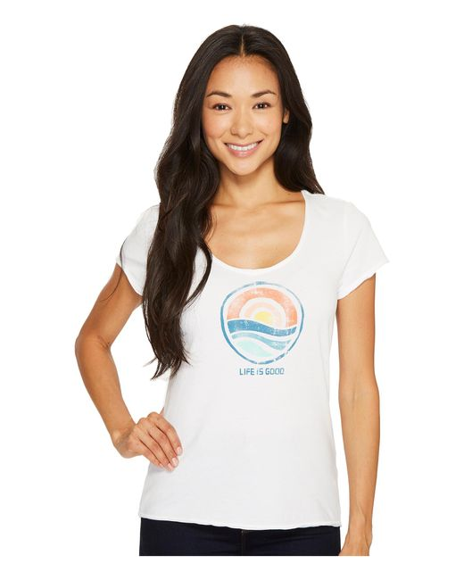 Life Is Good.   White Sunrise Smooth Tee   Lyst