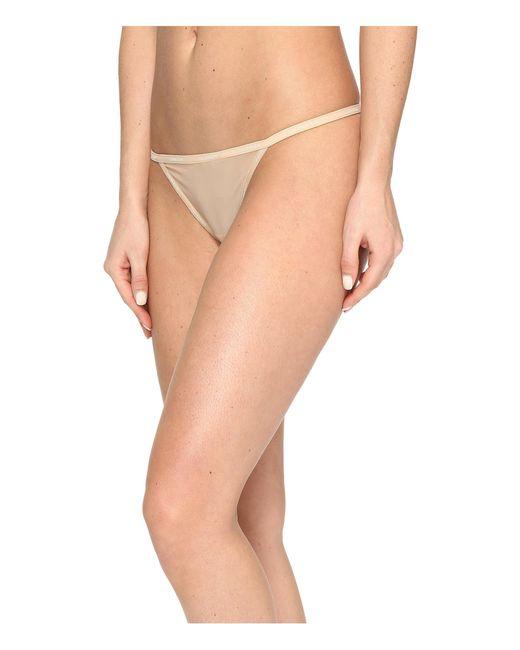 Calvin Klein | Natural Sheer Marquisette String Thong | Lyst