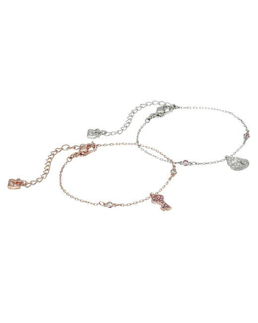 Swarovski | Pink Crystal Wishes Key Bracelet Set | Lyst