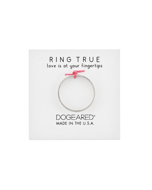 Dogeared | Metallic Wide Flat Ring | Lyst