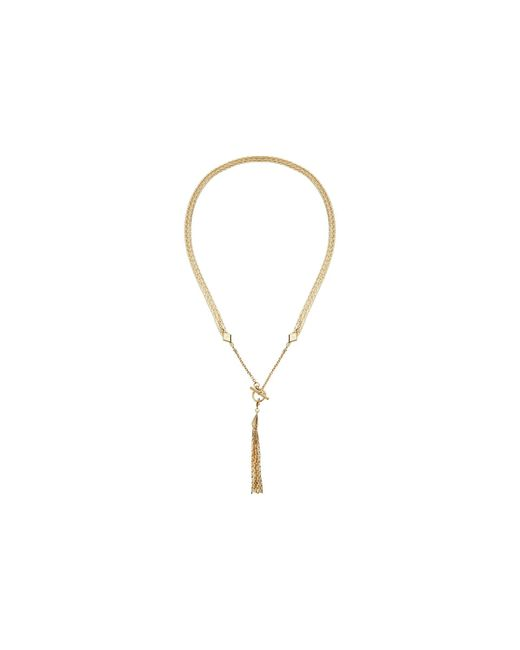 Vera Bradley   Metallic Tassel Reversible Necklace   Lyst