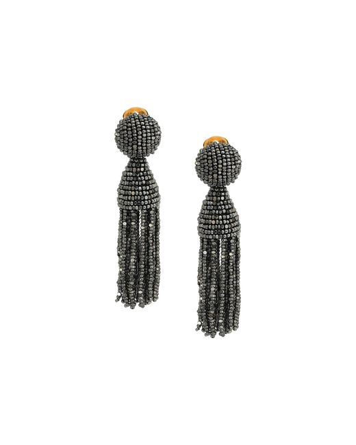 Oscar de la Renta | Multicolor Short Beaded Tassel C Earrings | Lyst