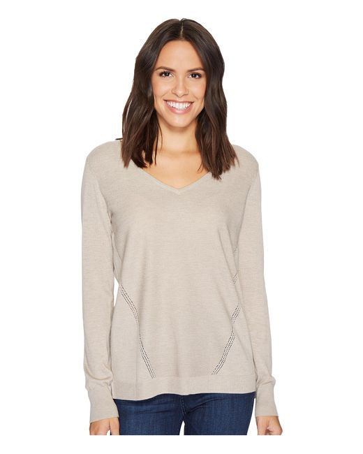 NYDJ | Multicolor Double V-neck Sweater | Lyst