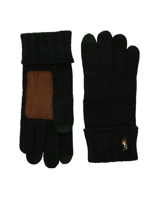 Polo Ralph Lauren | Black Signature Merino Touch Gloves for Men | Lyst