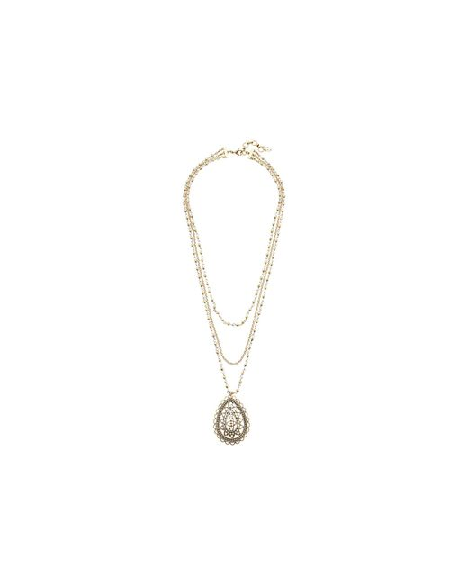 Lucky Brand   Metallic Openwork Layer Necklace   Lyst