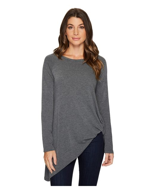 Karen Kane | Gray Asymmetric Pick Up Sweater | Lyst