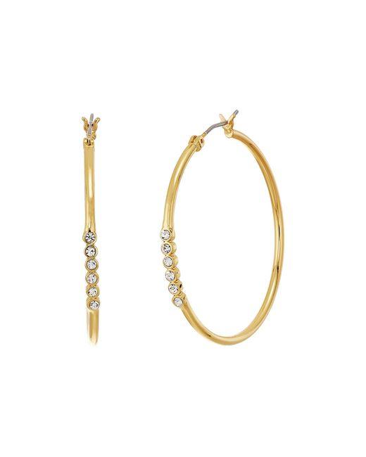 Rebecca Minkoff   Metallic Bubble Stone Hoops Earrings   Lyst