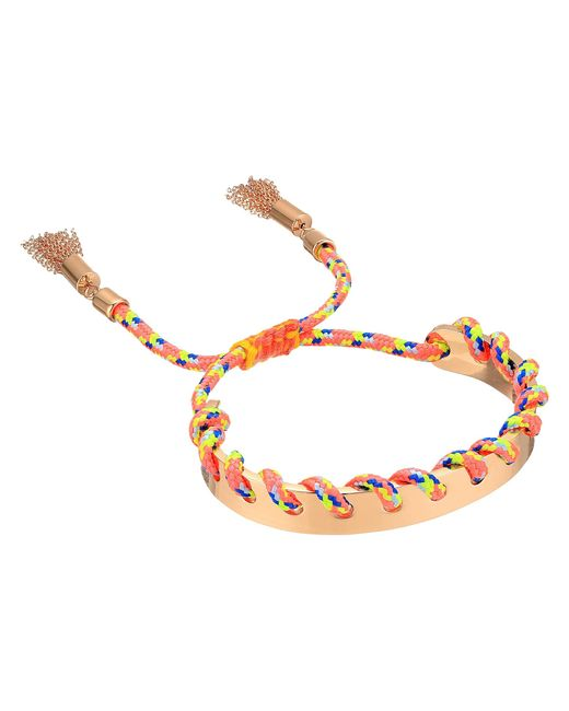 Rebecca Minkoff | Metallic Climbing Rope Whipstitch Skinny Cuff Bracelet | Lyst