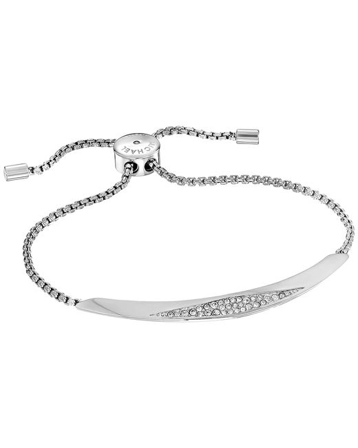 Michael Kors | Metallic Brilliance Four Rows Of Pave Crystals Slider Bracelet | Lyst