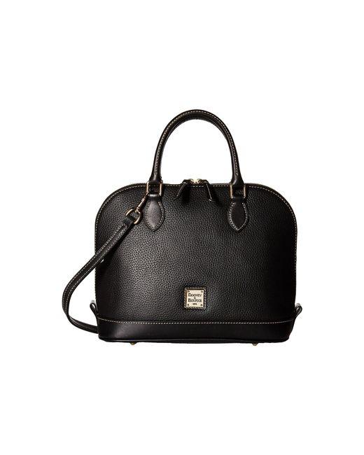Dooney & Bourke | Black Pebble Leather New Colors Zip Zip Satchel | Lyst